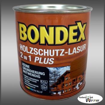 Bondex Holzschutz-Lasur 2in1 Plus - 750ml (726-Kastanie)