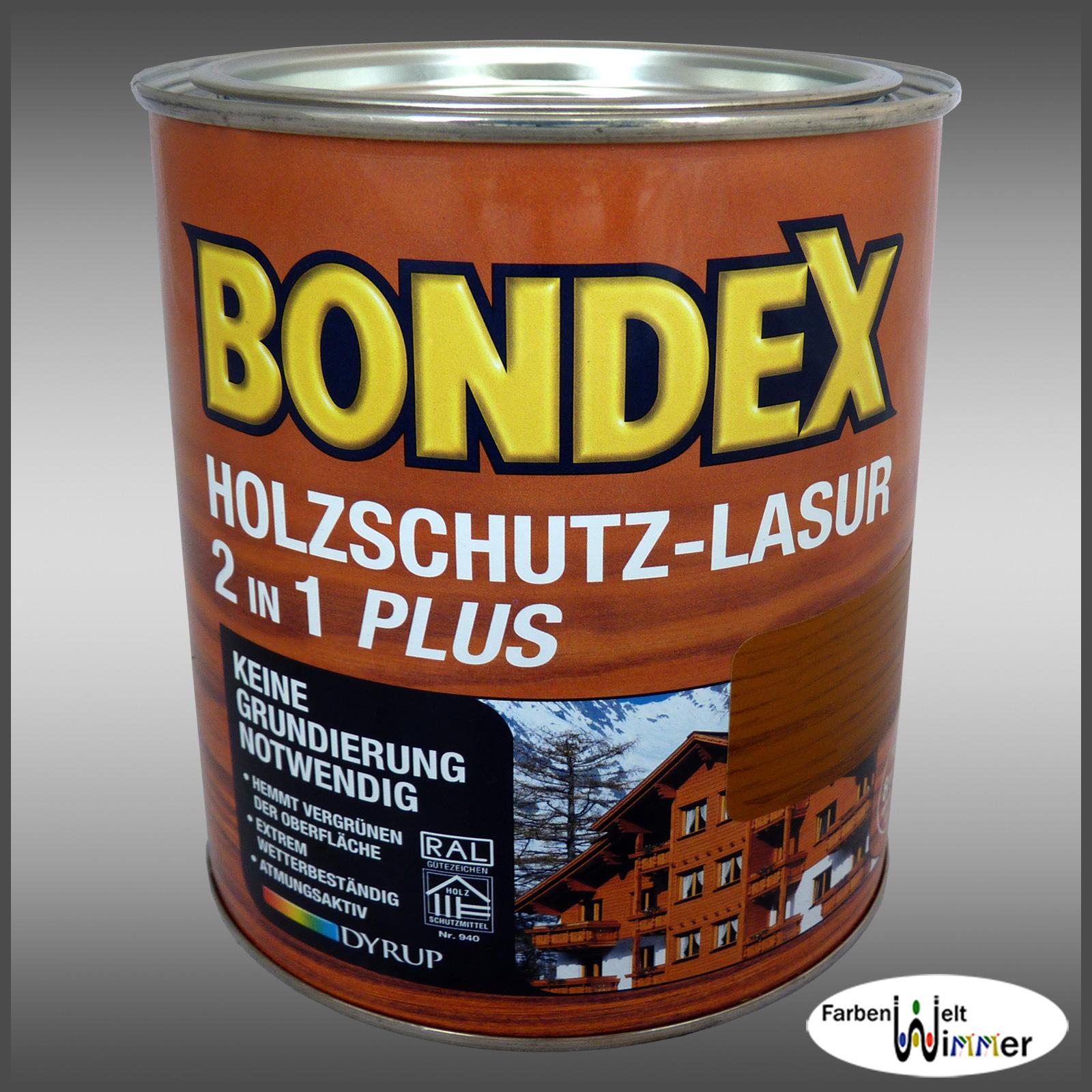 farbenwelt wimmer bondex holzschutz lasur 2in1 plus 750ml kastanie. Black Bedroom Furniture Sets. Home Design Ideas