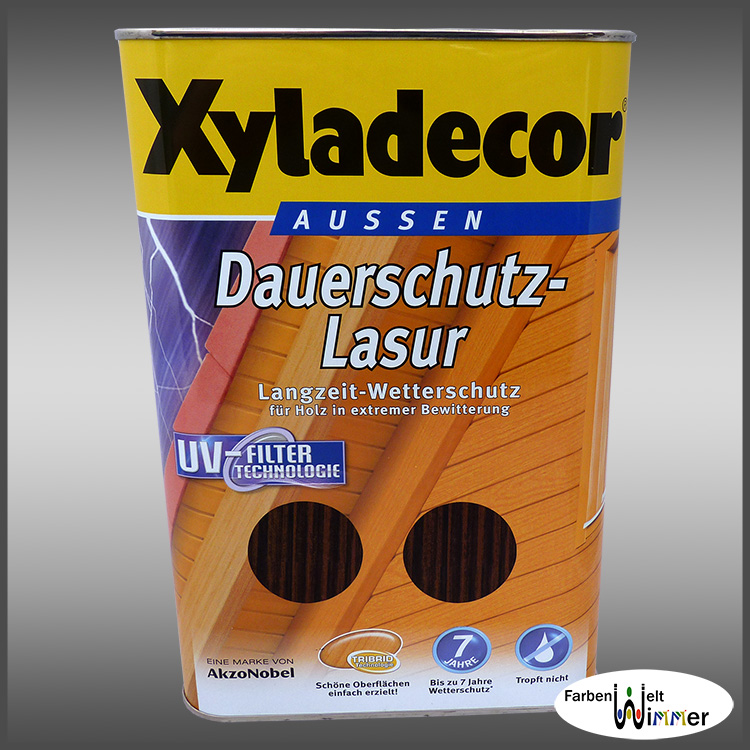 farbenwelt wimmer xyladecor dauerschutz lasur 750ml kastanie. Black Bedroom Furniture Sets. Home Design Ideas