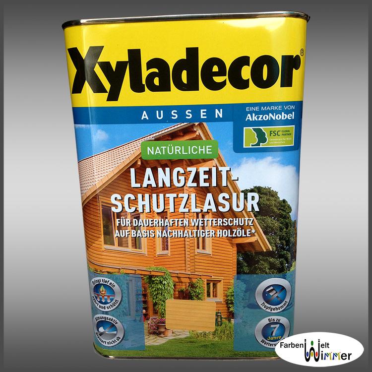 farbenwelt wimmer xyladecor langzeit schutzlasur 4l nussbaum. Black Bedroom Furniture Sets. Home Design Ideas