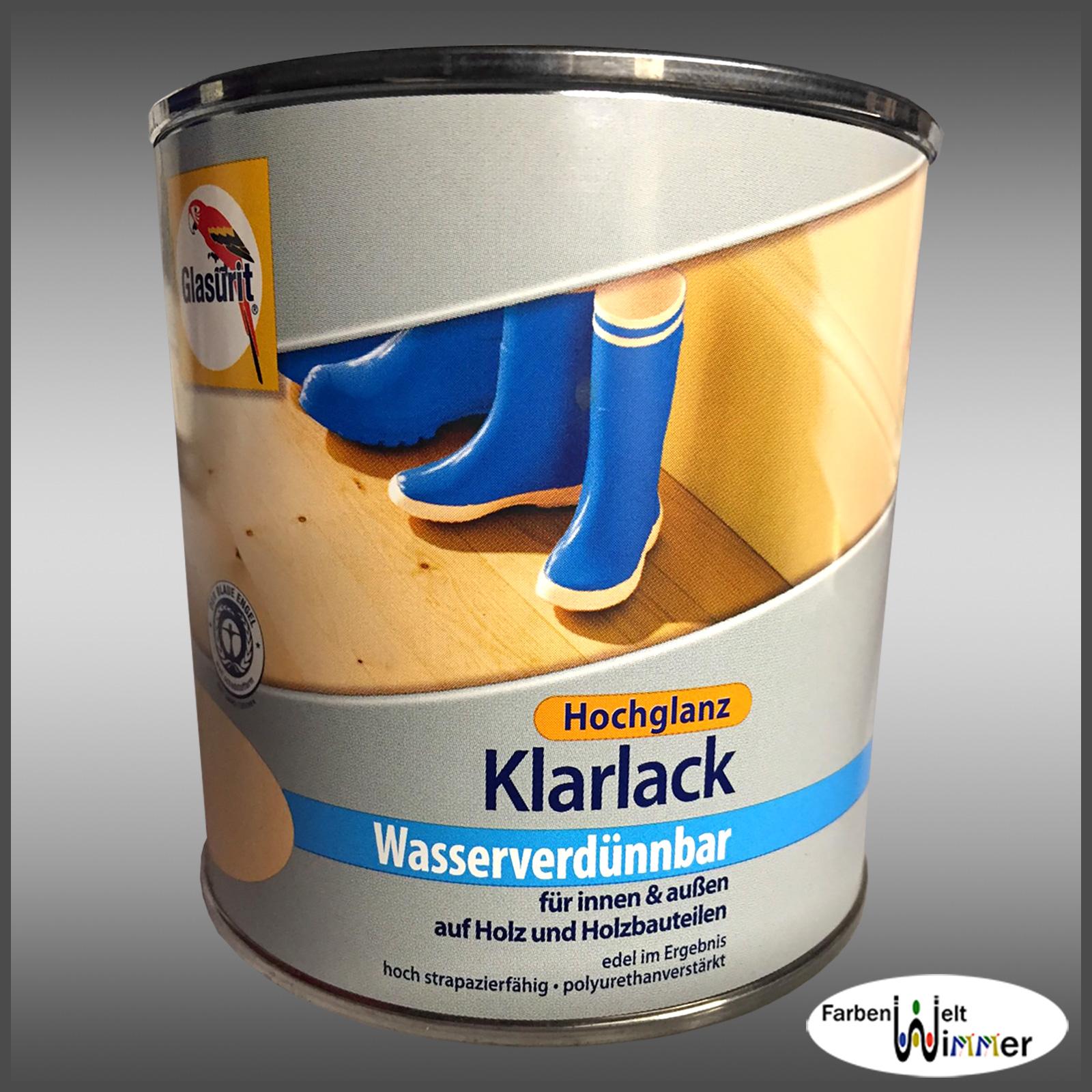 farbenwelt wimmer glasurit klarlack wasserverd nnbar. Black Bedroom Furniture Sets. Home Design Ideas