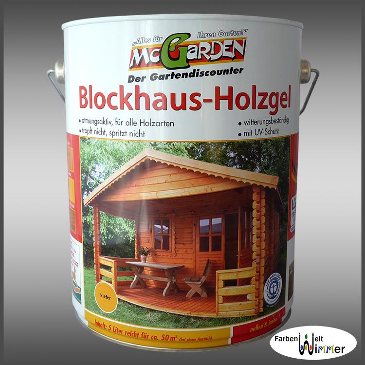 Farbenwelt wimmer mcgarden blockhaus holzgel 5l kiefer for Holzschutzmittel fachwerk