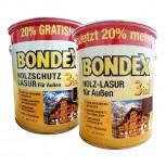 Bondex Holz-Lasur für aussen 3in1 - 3L (Nussbaum)