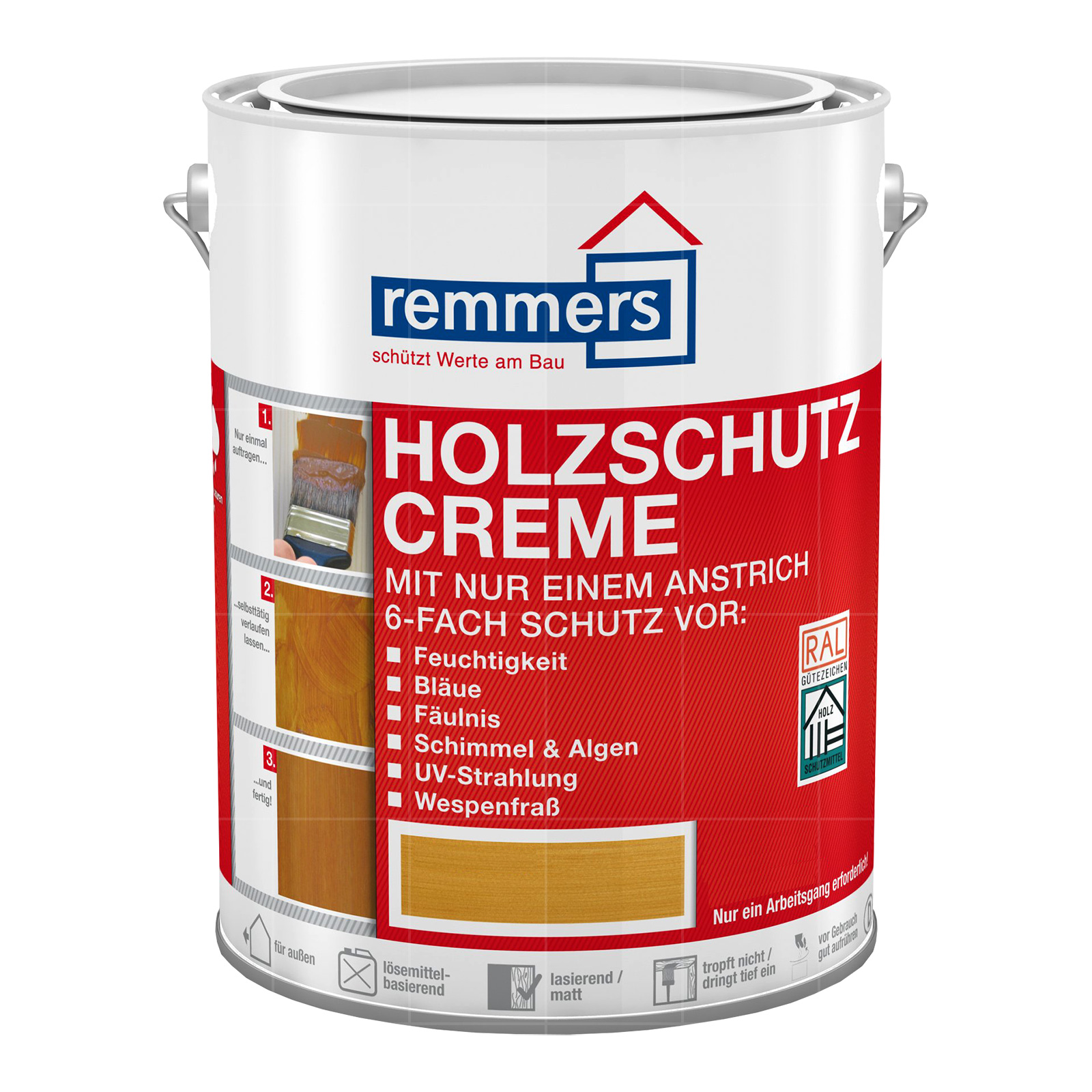 remmers holzschutz creme 750ml eiche hell 10811. Black Bedroom Furniture Sets. Home Design Ideas